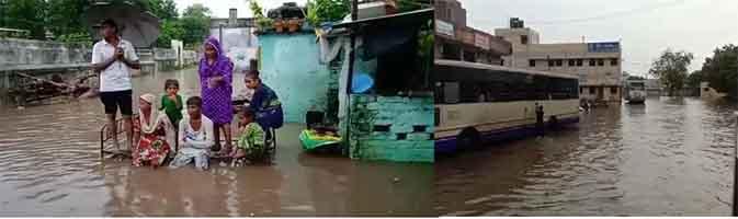 ગુજરાતમાં અમદાવાદ, બનારસકાંઠા વિસ્તારોમાં અવિરત મેઘકૃપા, 2 થી 3 ઇંચ વરસાદ