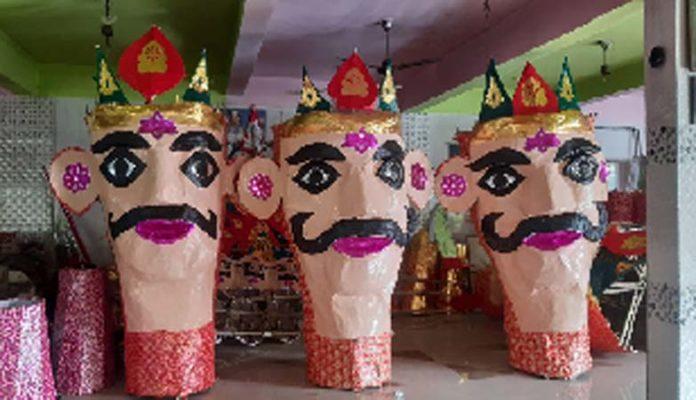 ગુજરાતના સૌથી ઉંચા રાવણના પુતળાનું રાજકોટમાં દહન